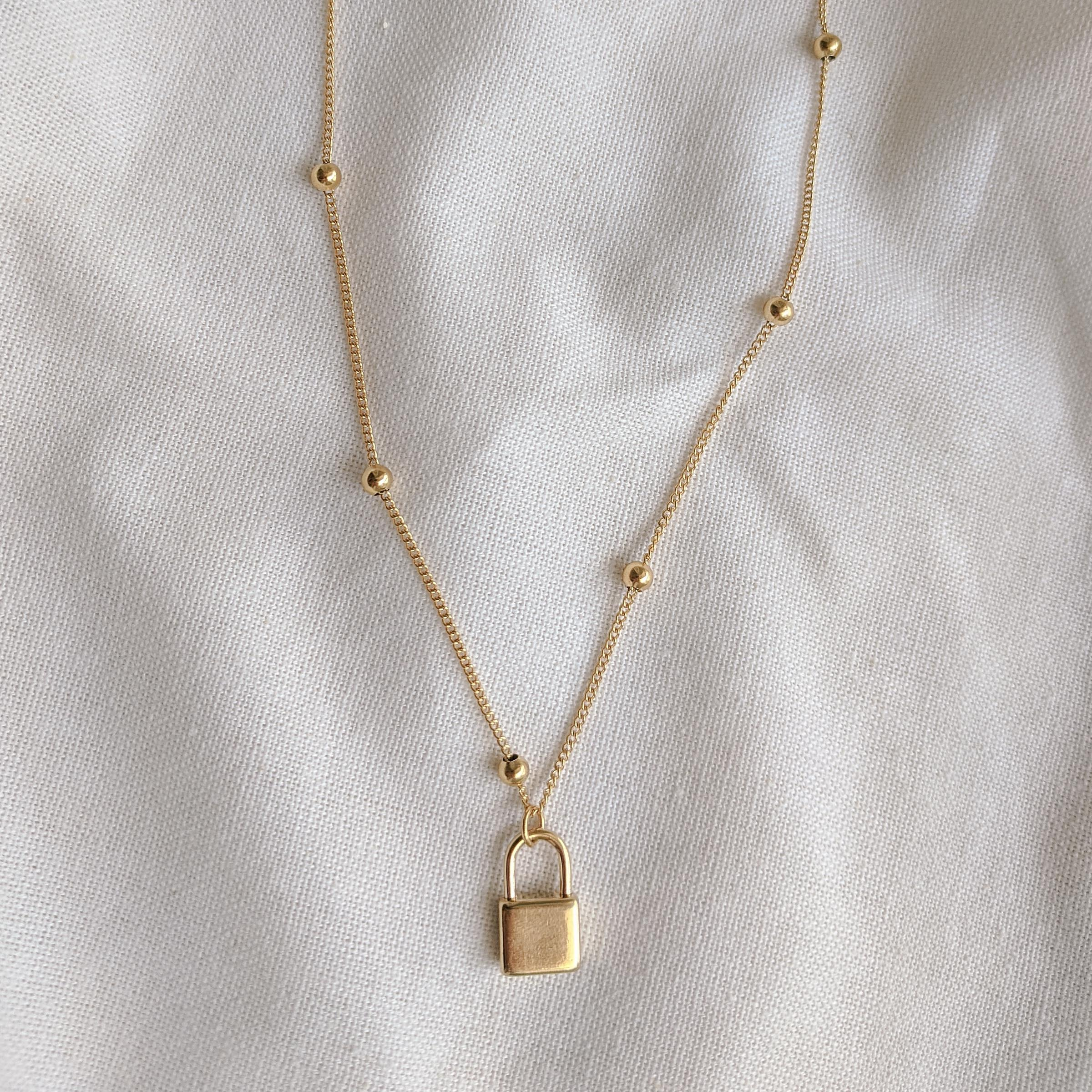Lock Necklace-Lucky Love Boutique