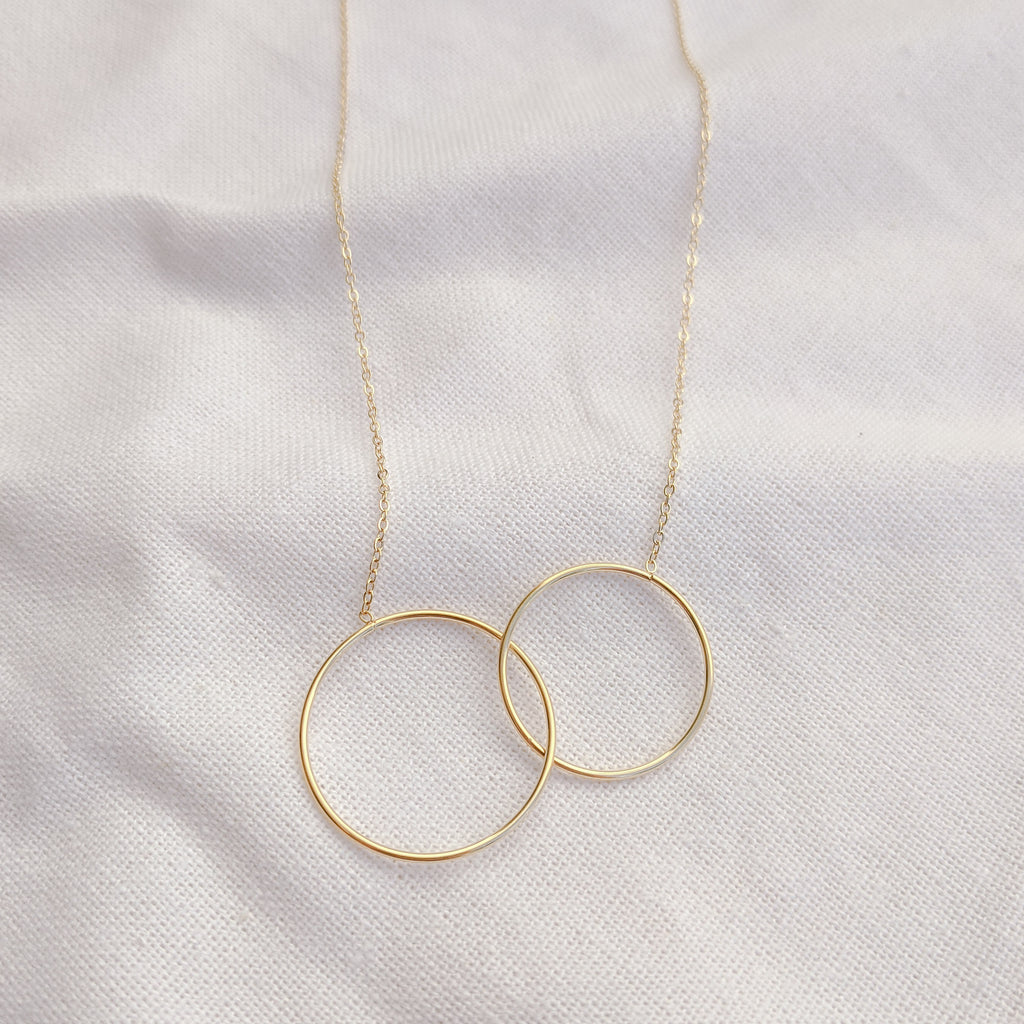 Double Circle Necklace-Lucky Love Boutique