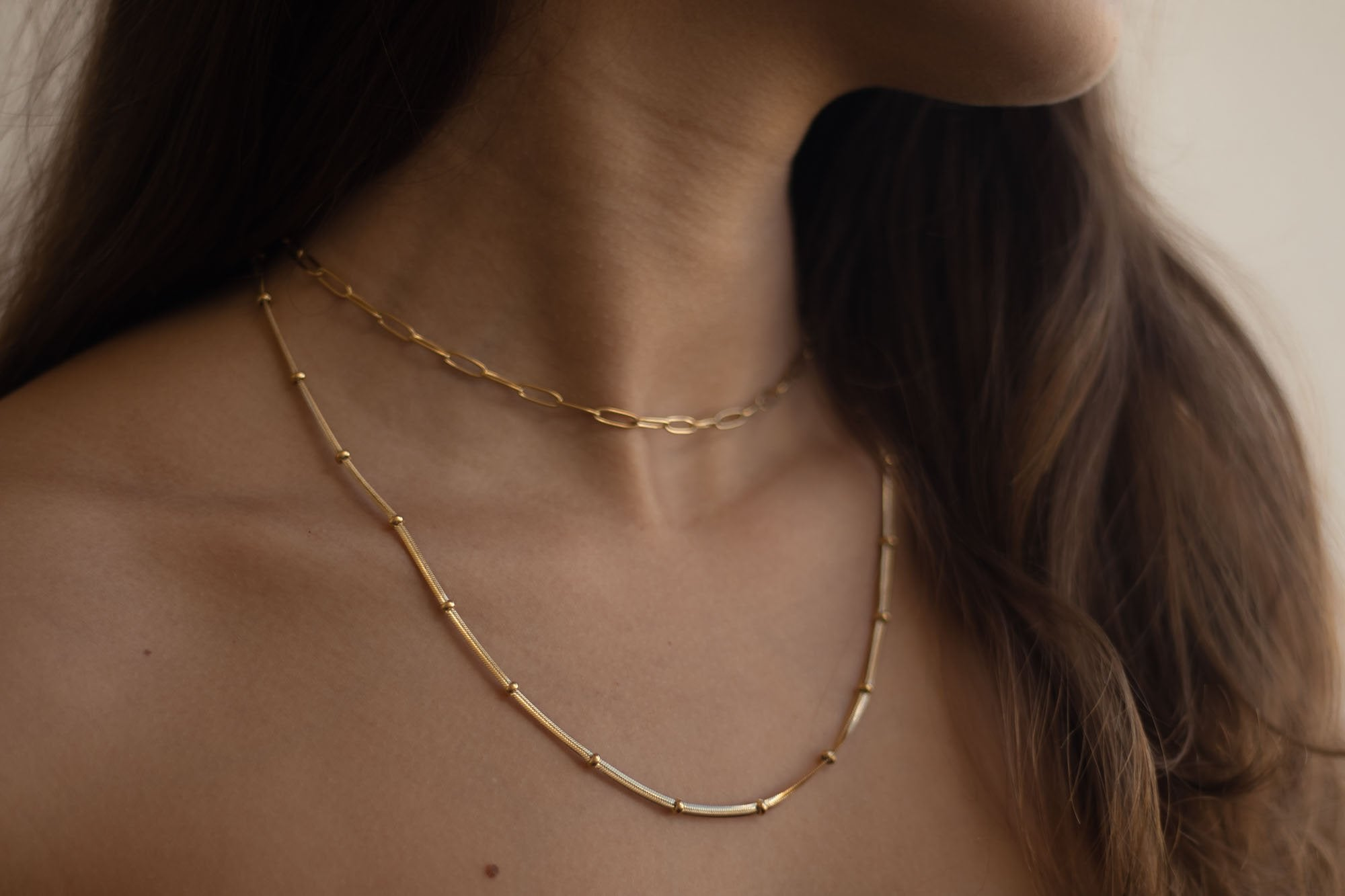 Thin Emma Chain Necklace-Lucky Love Boutique