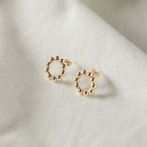 Dot Circle Studs-Lucky Love Boutique