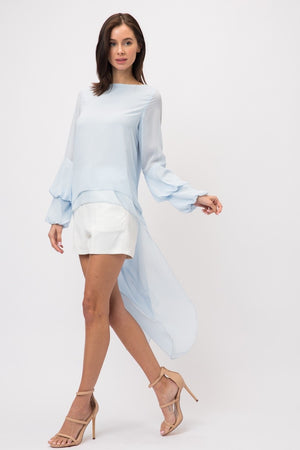 Light Blue high low-Lucky Love Boutique