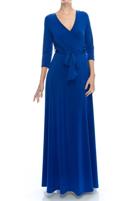 Royal maxi dress