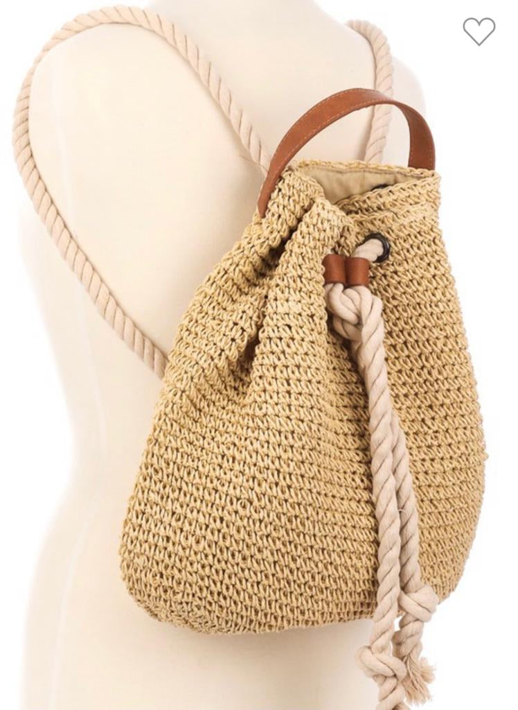 Crochet backpack-Lucky Love Boutique