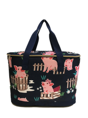 Fluffy Layers™ Pigs Canvas Insulated Cooler/Slow Cooker Carrier