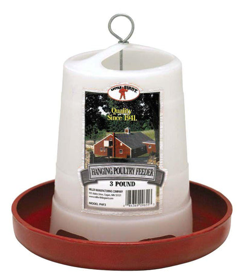 Little Giant® 3 lb. Plastic Hanging Poultry Feeder