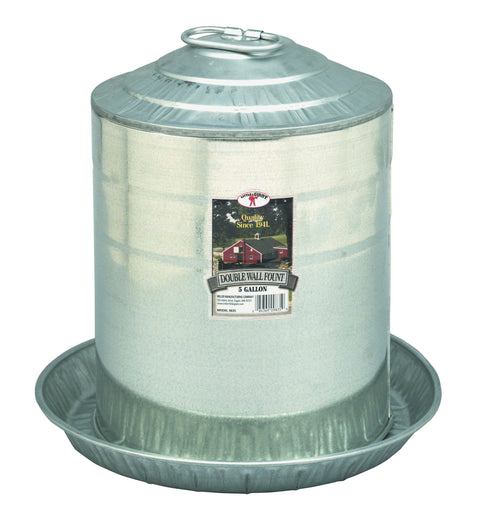 Little Giant® Galvanized Poultry Fount 5 Gallon Feeders & Waterers