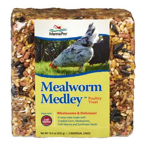 MannaPro® Mealworm Medley Poultry Treat 19.5 oz.