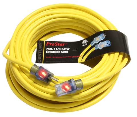 ProStar™ Heavy Duty Lighted Extension Cord, 75 ft.