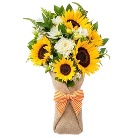 Cheerful Yellow Hand Bouquet