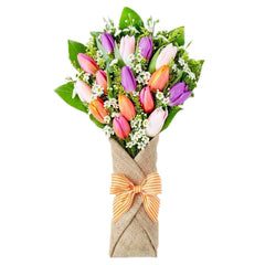Hearty Assorted Tulip Hand Bouquet