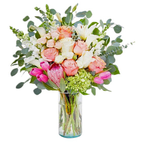 Blooming Rose Assortment Vase