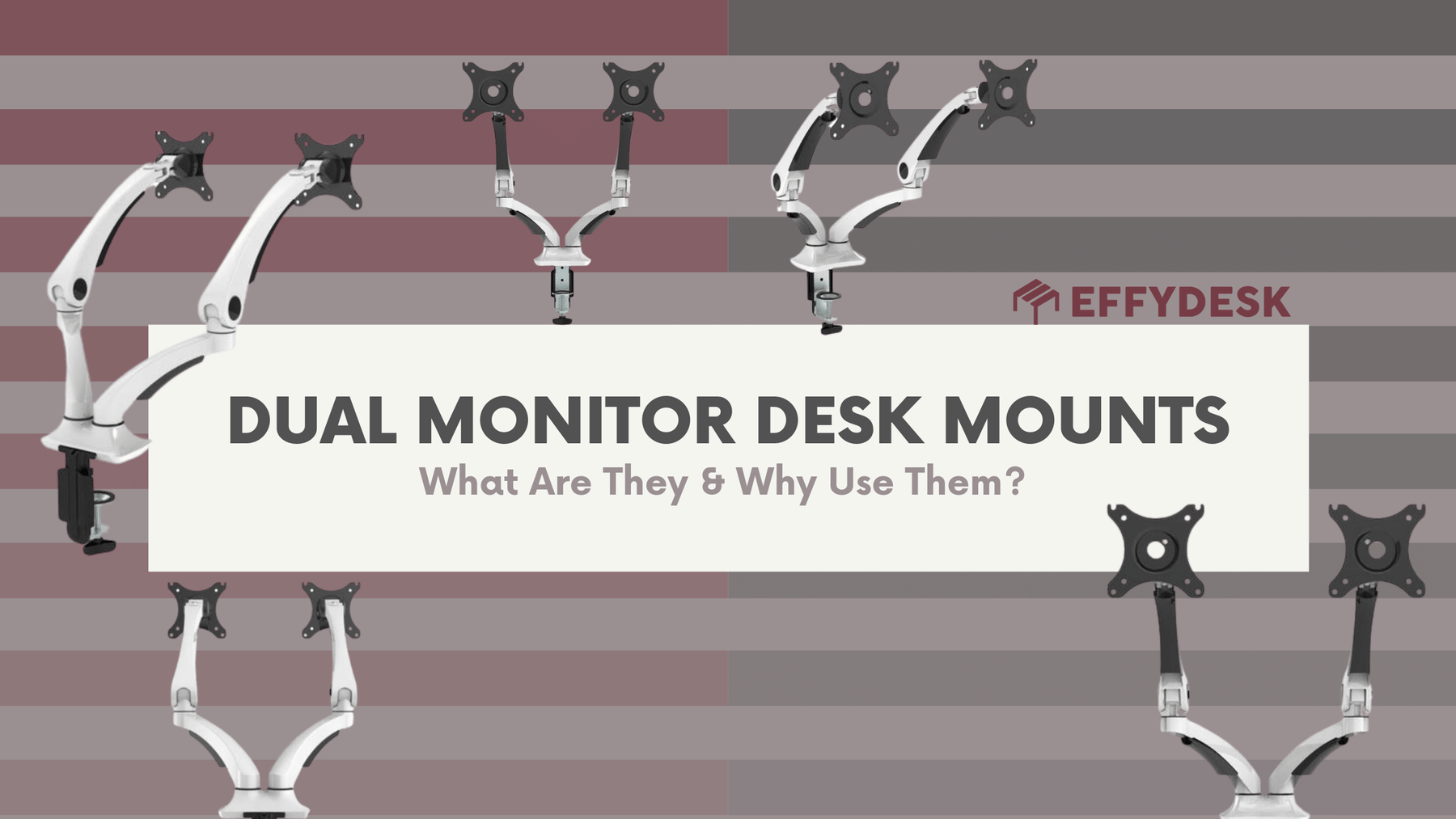 Dual Monitor Desk Mounts - What Are They and Why Use Them?