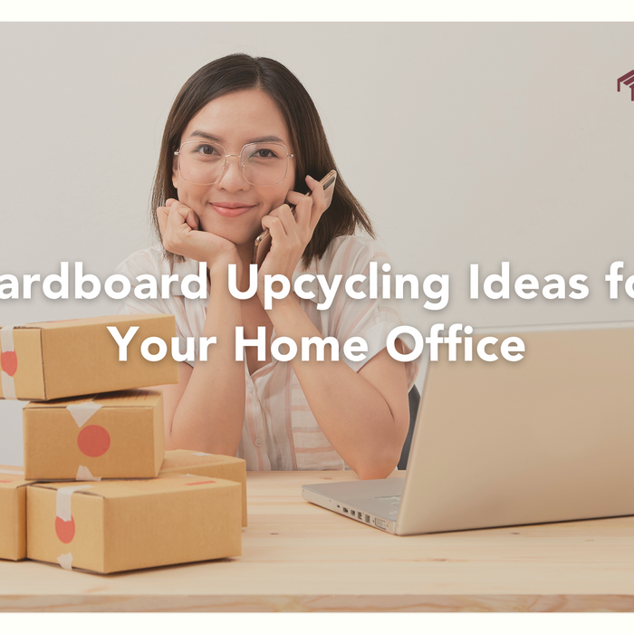 9 Amazing Cardboard Upcycling Ideas for Your Home Office - EFFYDESK Ergonomics Blog Banner