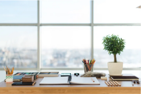 Optimized Clutter-Free Sit Office Desk with Window can help you boost your productive