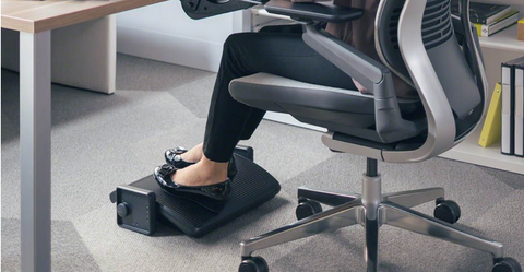 Keek your Foot rest on the ground can help you with sitting posture