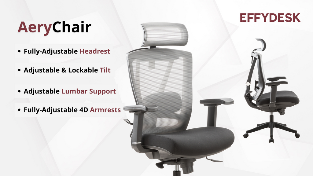 Aerychair is one of the best office chairs that have adjustable armrests