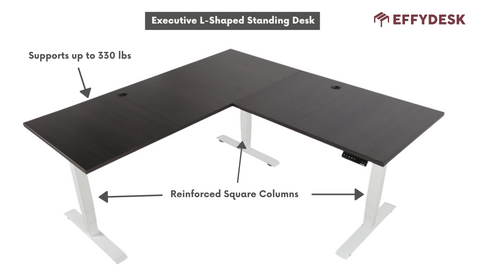 Larger space of l shaped desk that can have multiplayer gaming
