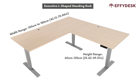 Executive L-Shaped Corner Office Standing Desk - EFFYDESK (Vancouver, B.C)