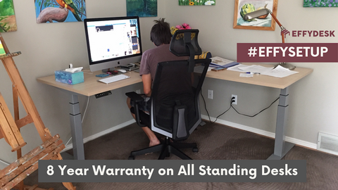 L-Shaped Corner Standing Desk - Customer EFFYDESK (Vancouver, B.C)
