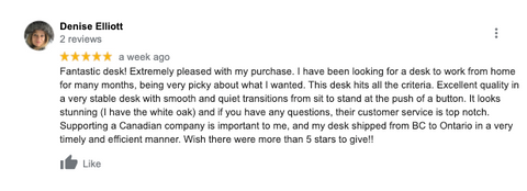 A standing desk review from one of the standing desk customer