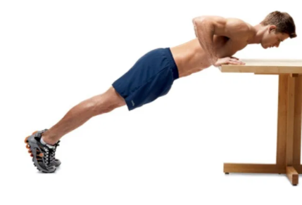 You can do your push ups with your standing desk Push-Ups