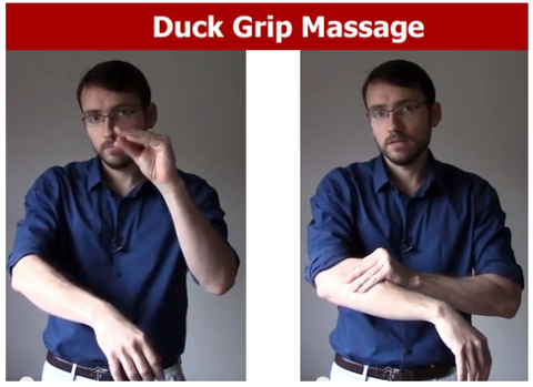 duck grip massage involve friction to relax your muscles