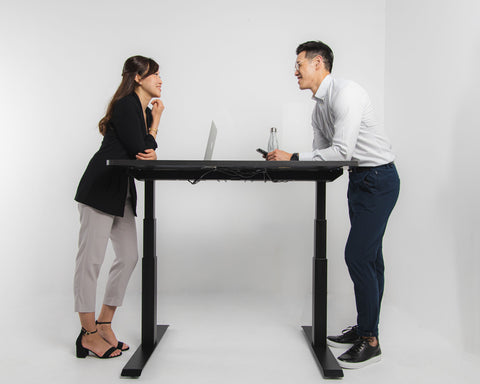 full size of standing desk provide two people working it