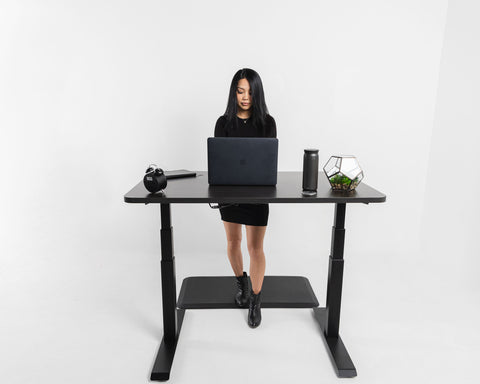 working at the standing desk with your mac