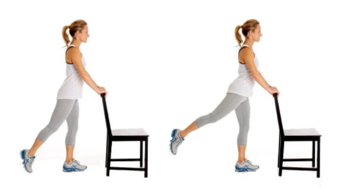 You can stretch your hip extensions by applying with chair