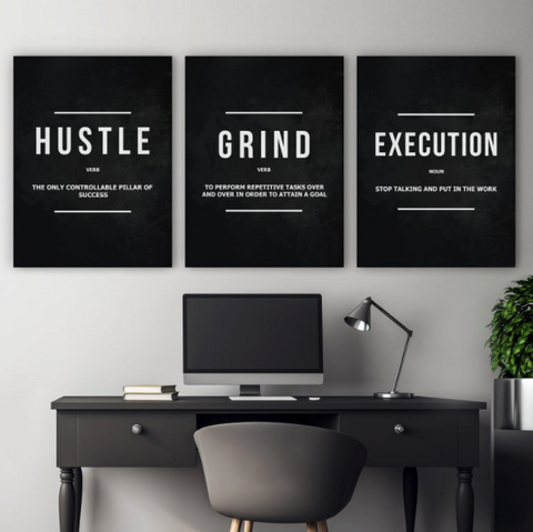 Simple wall print that match your home office