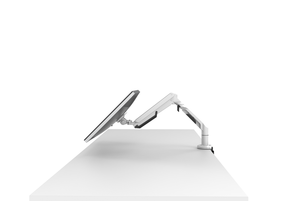 "Single Screen Desktop Monitor Mount - Aircraft Aluminium (Supports 17""36"" Office Desk Monitors) - EFFYDESK"