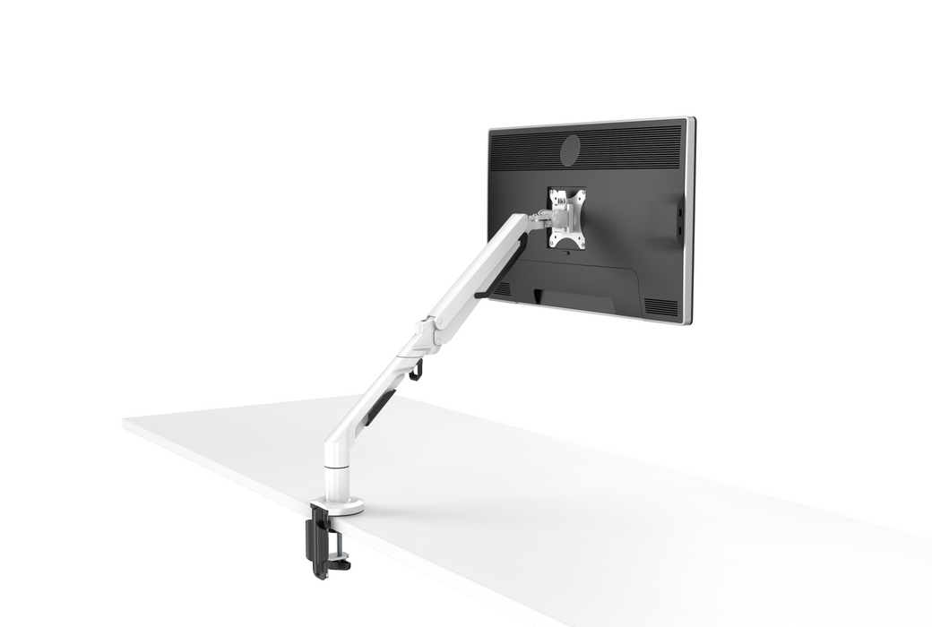 "Single-Screen Desktop Monitor Mount - Aircraft Aluminium (Supports 17""-36"" Office Desk Monitors) - EFFYDESK"