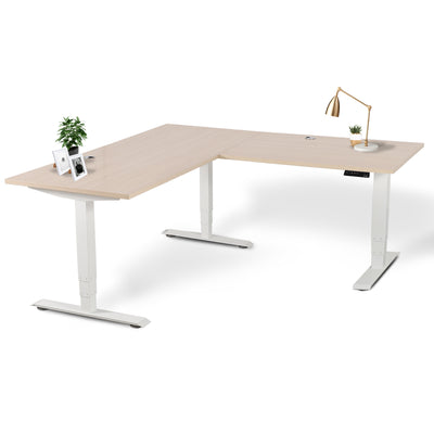 Executive Office Sit Stand L-Desk (Height Adjustable Electric Standing Desk)