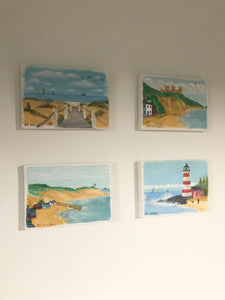 "AH summer miniatures set of 4 Number 7""by 5"