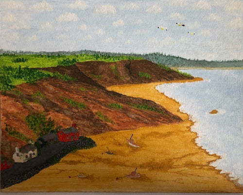 Beach scene (AH Signed Original)