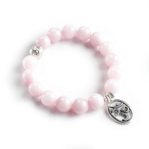 The Unconditional Love Bracelet - Rose Quartz and Sterling Silver with Choice of Charm