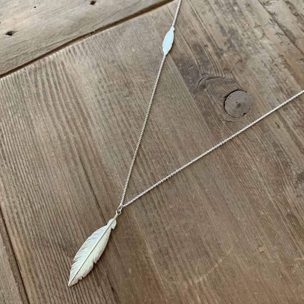 Double Feather in Sterling Silver