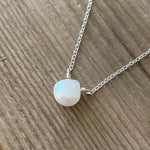 Magic Moonstone Heart Drop on Chain