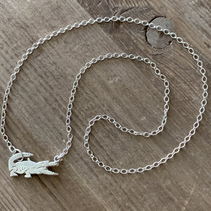 Sterling Silver Gator Necklace