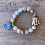 Amazonite Double Buddha Bracelet