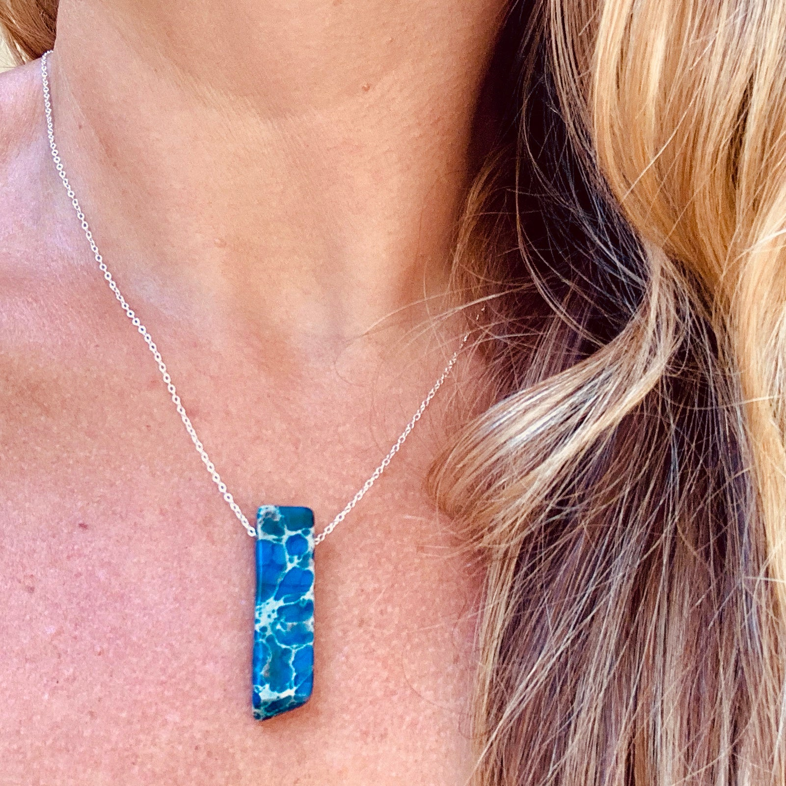 You Are My Rock in Royal Blue Jasper