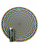 "8"" Rubber Dropmat Psychedelic"