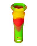 "18mm to 14mm Silicone Downstem 1"" Rasta"
