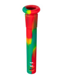 "18mm to 14mm Silicone Downstem 3"" Rasta"