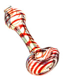 Red Full Spiral Fumed Mini Spoon Pipe