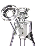 Diamond Glass Naturally Aspirated Gavel Bubbler Mouthpiece