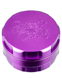 Purple 3-Piece Large Radial Teeth Aluminum Grinder