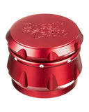 Red 4-Piece Diamond Crest Aluminum Grinder