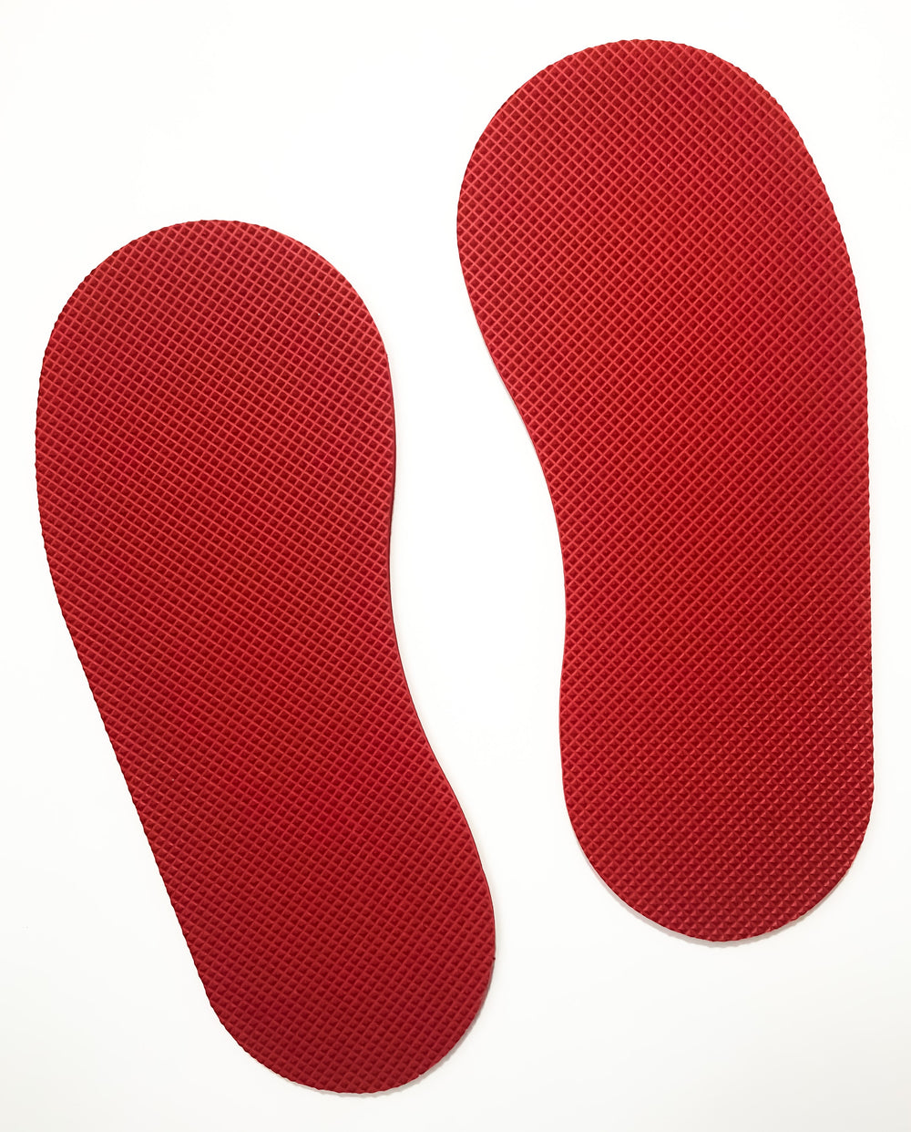 Set of 4  Colored Textured Footpads (Green, Yellow, Red, and Blue)