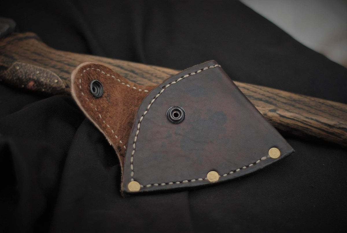 Handforged Viking Battle Axe with Leather Handle